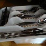 Plenty of cutlery in drawer