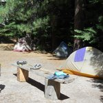 Campsite at Lake Merced