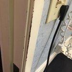 scratched up door jam
