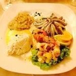 Antipasto,baccalà alla vicentina,baccalà mantecato,alici marinate,insalata di polpo con patate,m