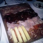 ham platter with menchego cheese