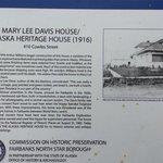 Alaska Heritage House Historical Marker