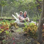 Hostel - Garden with easy chairs!
