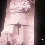 Dr. King's Memorial at night.