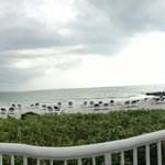 Pano of the beach as a storm rolls in