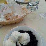 mirtilli e gelato