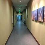 Hallway to Pool and Fitness center.
