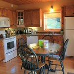 inside chalet (kitchenette)