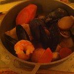 Saffron fish pot.