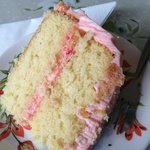 Lemon and rosewater cake - divine!