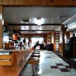 Diner-like interior