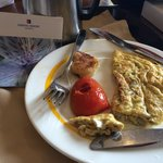 Omelette with Shells served to our room.. Highly disappointed with the whole experience!!!