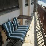 Terraza de la habitaciones Xicoria y Pensament