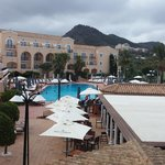 Hotel grounds - pool and bar (closes at 7PM!)