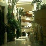 questi i corridoi interni del Hotel