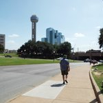 Hotel from a distance next to Reunion Tower