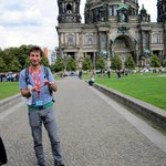 "Our guide Jonathan in front of the ""Berliner Dom"""