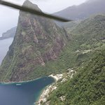 View of Piton from heli
