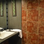 Bathroom - this may sound weird but I loved their copper colored tiles