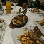 Mix grill to eat... Chilli paneer demolished!