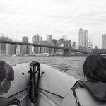 Approaching Brooklyn, Manhattan and Washington bridges.