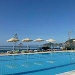 Pool and sea beyond