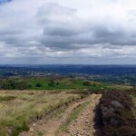 View across Sheffield, towards North Yorkshire and Lincolnshire, from Totley Moss - five powerst