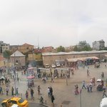 View of Taksim Square from hotel room