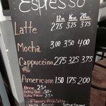 Espresso Menu