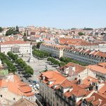 The Praca Rossio from the view platform