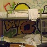 Inhabited bunks opposite ours