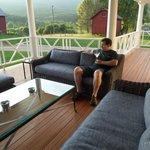 Porch sitting area