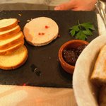 Duck liver pate, good!