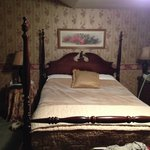 Bed in Avonlea Room (with comforter turned down)