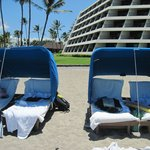 Beach Chairs and Hotel