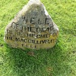 Clan Chief grave marker