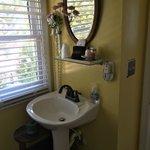 bathroom sink in  Aunt Clara