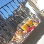 Desayunando y tener estas vistas magnificas !!
