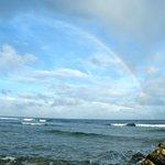 Arcobaleno dalla spiaggia