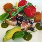 Sesame crusted albacore tuna