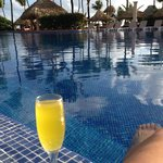 After workout in the a.m. I'd go by excellence club n get a mimosa and sit by the pool 5' from d