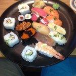Big sushi meal