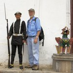PhotoGuy poses with Gurkha Soldier in Bhaktapur.