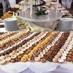 Un assaggio del buffet di dolci...