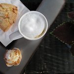 Our delicious coffee and snack