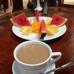 Delicious fruit breakfast