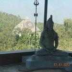 Ramesh Jain with Vijetha at Pyramid valley.