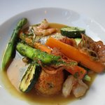 Sea bass with shrimp and scallop