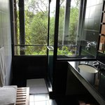 bathroom - shower with a view!