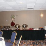 Buffet area. Served on both sides of the table